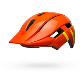 Bell Sidetrack II MIPS Helm Kinder strike gloss orange/yellow